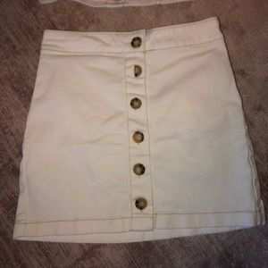 Dresses & Skirts - White denim button skirt